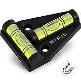 MINIC Magnetische-Kreuzwasserwaage || Kleine Wasserwaage | Strapazierfähig und Bruchsicher | Wohnmobil Zubehör | Starker Magnet | Wohnwagen Zubehör | Perfektes Camping Zubehör