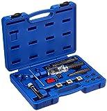 KUNZER (7HBG20) Handbördelgerät Profi - 16-tlg. Set für 4,75 mm (3/16''), 5 mm und 6 mm Bördelung nach DIN/SAE