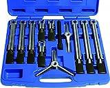 Kunzer 7UAZ12 Universeller 2- und 3-Armiger Abziehersatz, 12-Teilig im Koffer