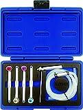 KUNZER (7BEW06.1) Bremsen-Entlüftungs-Werkzeug-Set 6-tlg. - 6-Kant Version mit Koffer inkl. Schlauch und SW 7 8 9 10 11