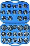 KUNZER (7FL30) PKW-Ölfilterkappensatz 30tlg – Glocken-Set zum Ein- / Ausbau von Öl- und Kraftstofffiltern vieler Marken
