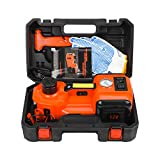 CarBole Elektrischer Wagenheber 5T 12V: Hebebereich 15.5-45cm Elektrische Hydraulischer Wagenheber für SUV   Reifenwechsel