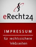 eRecht24 Siegel für rechtssichere Webseiten